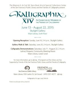 Kalligraphia XIV