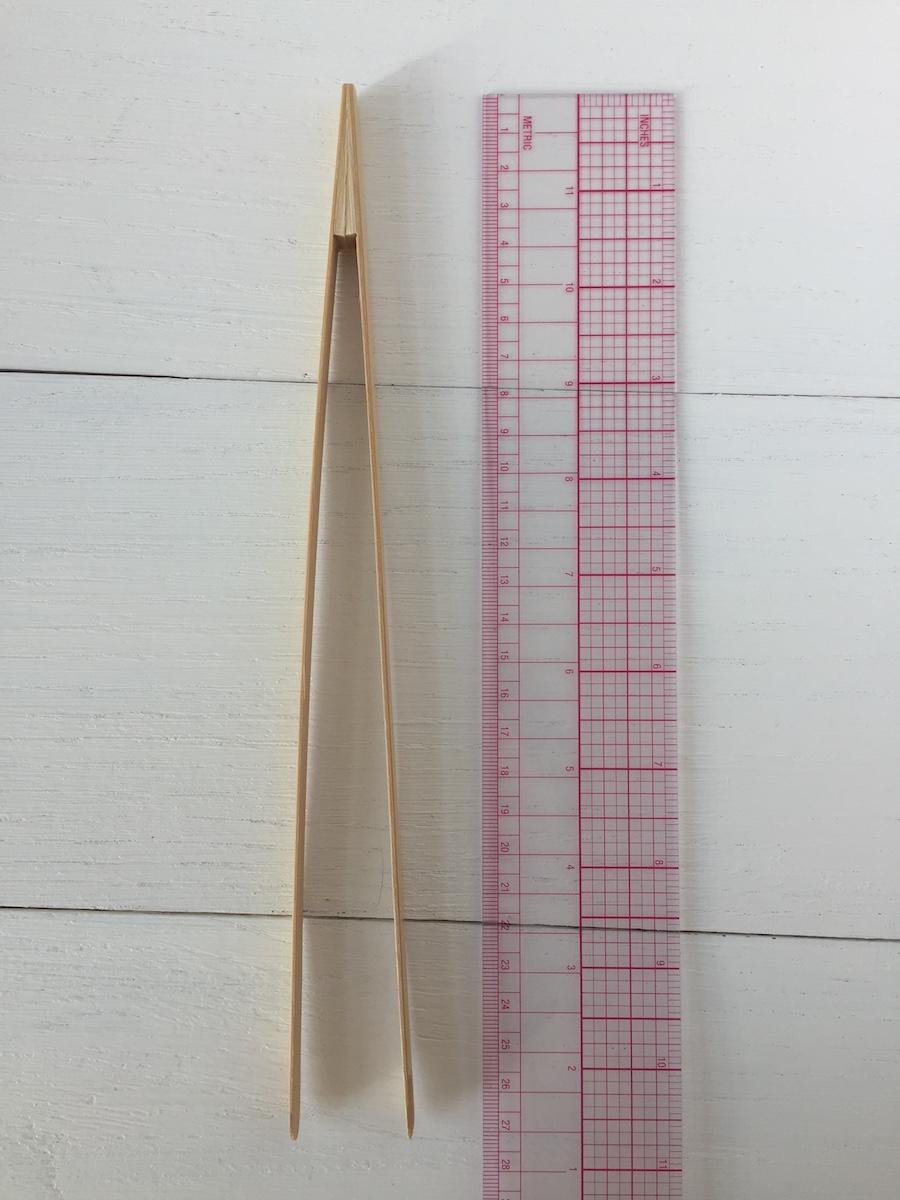 Bamboo tweezers L