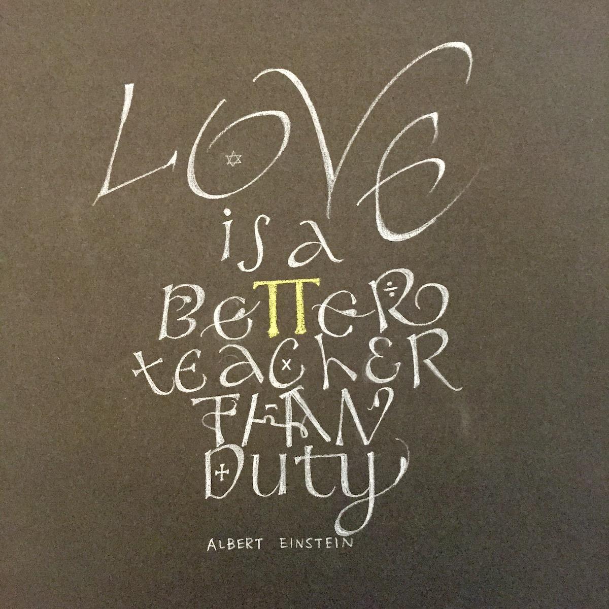 from Einstein's quote